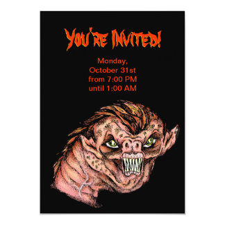 Halloween Party Invitation - Scary Creature
