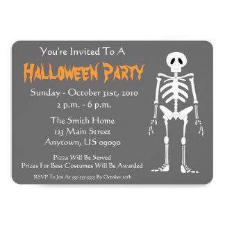 Halloween Party Invitation (Skeleton Gray)