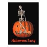 "Halloween Party Invitation Skeleton Jack O Lantern 5"" X 7"" Invitation Card"