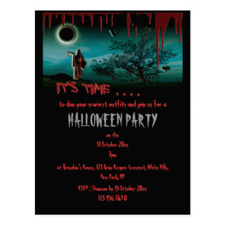 Halloween Party invitation template - customize Postcard