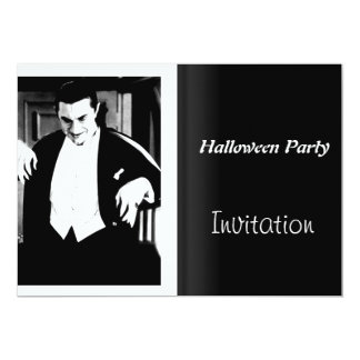 Halloween Party Invitation Vintage Movie Night Custom Announcement