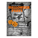 Halloween Party Invitation Witch Spider