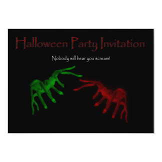 Halloween Party Invitation with spiders arachnids
