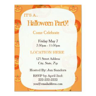 "Halloween Party Invitations 4.25"" X 5.5"" Invitation Card"