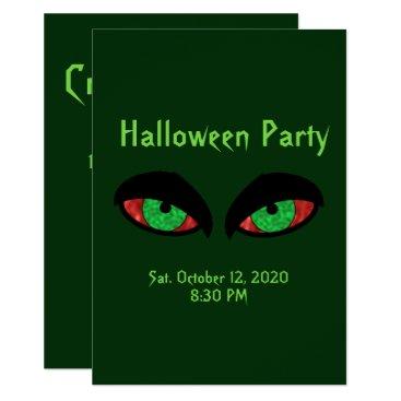 Halloween Themed Halloween Party Invitations