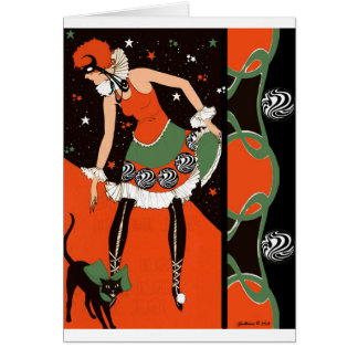 Halloween Party Invitations - Art Deco Card