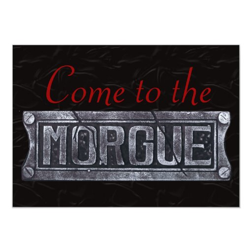 Halloween Party Invitations, Come to the Morgue!