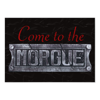 Halloween Party Invitations, Come to the Morgue! Card