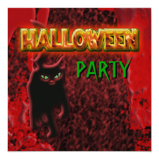 """Halloween party"" invitations customize template"