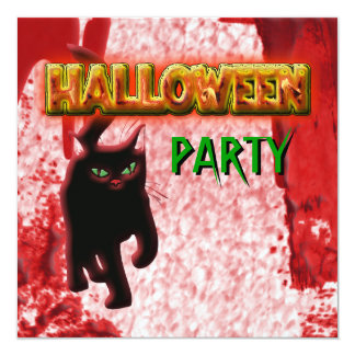 Halloween party invitations - customize template