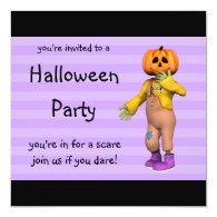 Halloween Party Invitations Happy Jack Square
