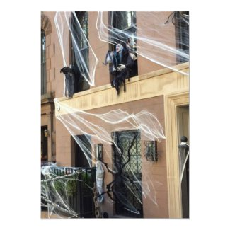 Halloween Party Invitations Spiderwebs in the City