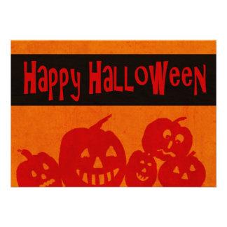 Halloween Party Invitations Spooky Pumpkins