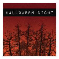 Halloween Party Invitations Spooky Trees