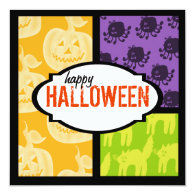 Halloween Party Invitations Square
