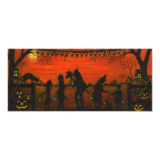 Halloween,party.invitations,trick-or-treat 4x9.25 Paper Invitation Card