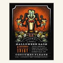 Halloween Party Invite 8.5 x 11 Flyer Dracula Fun