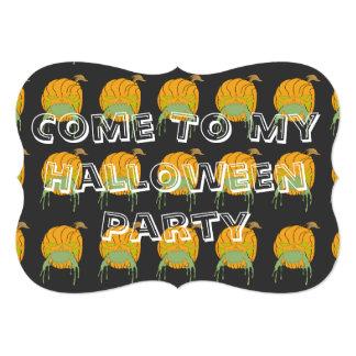 "Halloween Party Invite 5"" X 7"" Invitation Card"