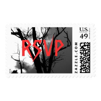 Halloween Party Invite Postage