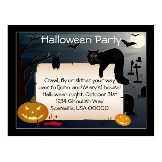 Halloween Party Invite Post Cards