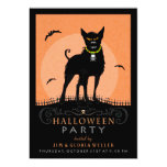 "Halloween Party Invite - Scary Dog Under the Moon 5"" X 7"" Invitation Card"