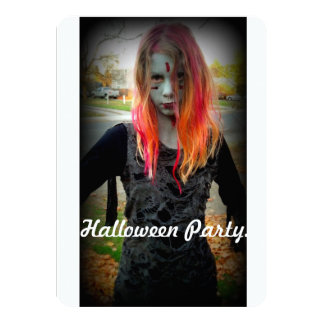 Halloween Party Invite Zombie Style