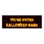 halloween party invites. Double-Sided mini business cards (Pack of 20)