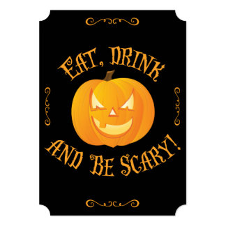 Halloween Party Invites Eat Drink Be Scary Ticket
