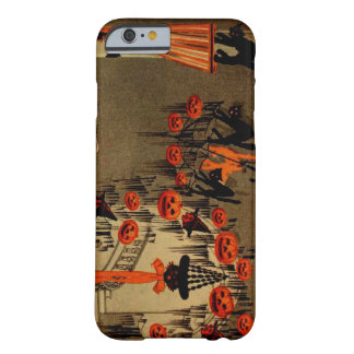 Halloween Party Jack O Lantern Black Cat Barely There iPhone 6 Case