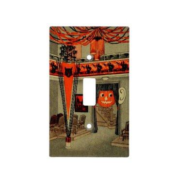 WelteHalloweenStore Halloween Party Jack O Lantern Pumpkin Black Cat Light Switch Cover