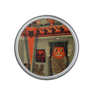 Halloween Party Jack O Lantern Pumpkin Black Cat Speaker