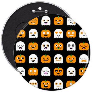 Halloween Party Jumbo Button: Pumpkins & Ghosts Pinback Button