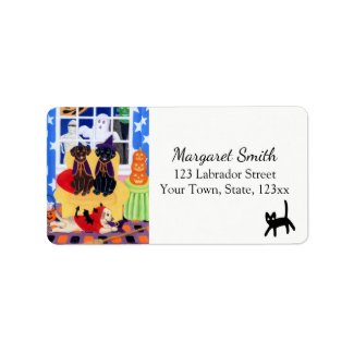 Halloween Party Labradors Address Labels