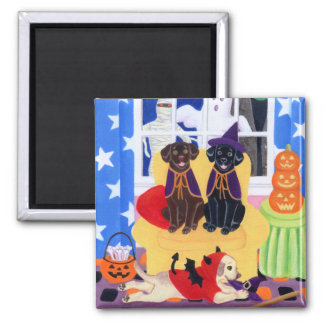 Halloween Party Labradors! Magnets