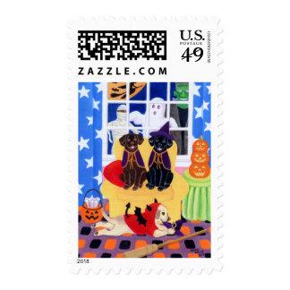 Halloween Party Labradors! Stamp