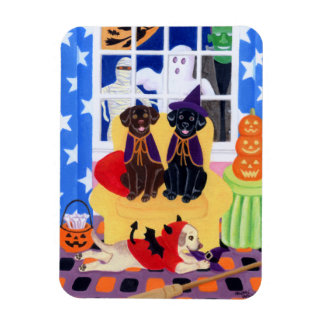 Halloween Party Labradors! Rectangle Magnets