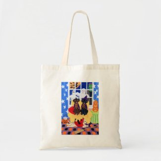 Halloween Party Labradors! Tote Bag