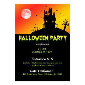 Halloween party large business cards (Pack of 100)