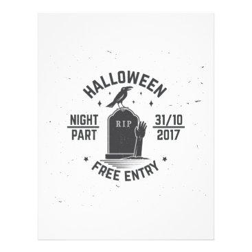 Halloween Themed Halloween-party Letterhead