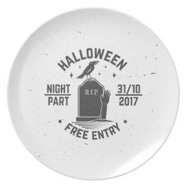 Halloween Themed Halloween-party Melamine Plate