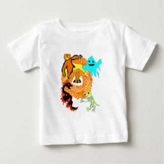 Halloween party: monsters around fire t shirts