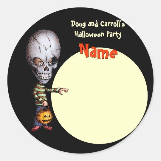 Halloween Party Name Tag - Skull Kid | Zazzle.com
