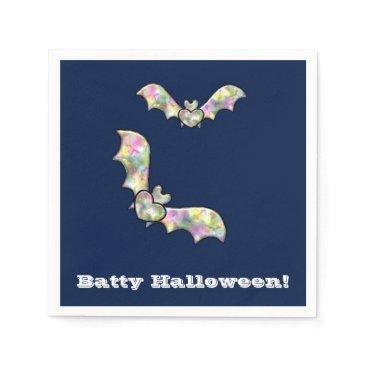 Halloween Themed Halloween Party Napkins Bat and Heart Batty