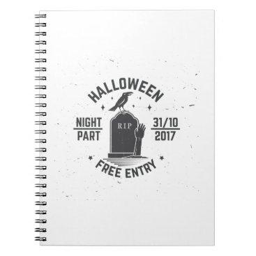 Halloween Themed Halloween-party Notebook