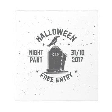 Halloween Themed Halloween-party Notepad