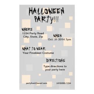 Halloween party orange black box digital art abstr flyer