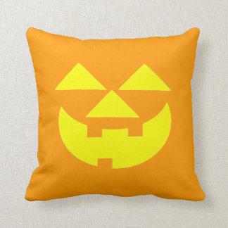Halloween Party Orange Jackolantern Pillow