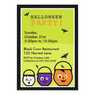 "Halloween ""Party Pails"" Invitation"