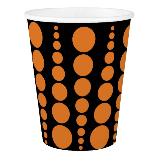 HALLOWEEN PARTY PAPER CUP. CUSTOMIZABLE BACKGROUND PAPER CUP