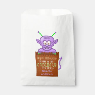 Halloween Party Personalized Cute Goblin Monster Favor Bag